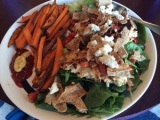 Healthy Recipe: Turkey Burger Salad with Sweet Potato Fries