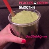 Sunday Smoothie: Peaches & Green