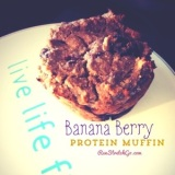 Healthy Recipe: Banana Berry Protein Muffins