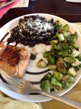 Healthy Recipe: Pan Roasted Cinnamon Salmon and Brussels Sprouts