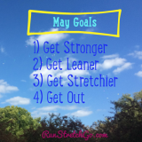 May Goals: Get stronger, get leaner, get stretchier